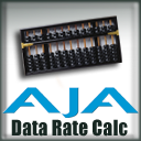 AJA Data Rate Calculator icon