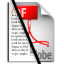Text to PDF icon