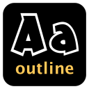 Outline Font Kit icon