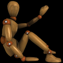 Poseable icon