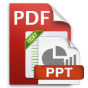 PDF to PPTX and Text icon