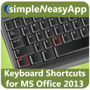 Keyboard Shortcuts for MS Office- A simpleNeasyApp by WAGmob icon